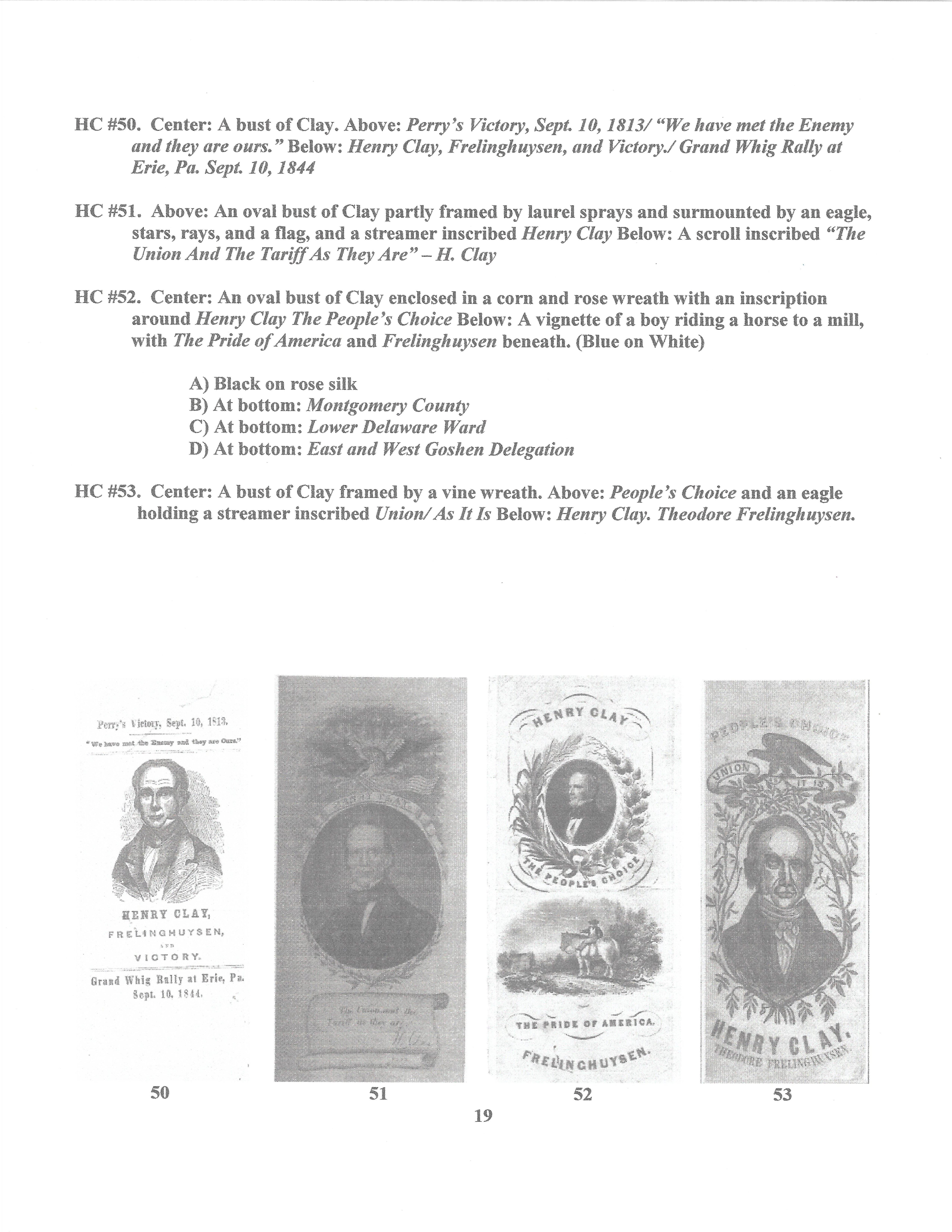 Henry Clay Ribbons on page title,
